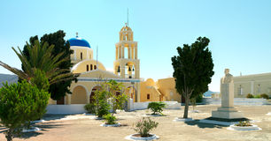 Greek church in the Santorini island Royalty Free Stock Photo