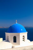Greek church in Santorini island Stock Image