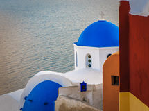 Greek church at Santorini island Stock Images