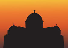 Greek Church Silhouette Royalty Free Stock Image