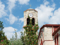 Greek Church Tower Royalty Free Stock Photography