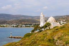 Greek Church. Traditional Greek Church, Ios island, Cyclades, Greece Royalty Free Stock Image