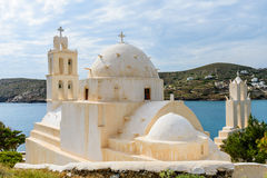 Greek Church. Traditional Greek Church, Ios island, Cyclades, Greece Stock Photos