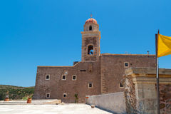 Greek church in the village of Lasithi Plateau Stock Images