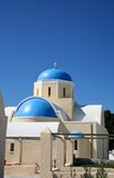 Greek churches Royalty Free Stock Images