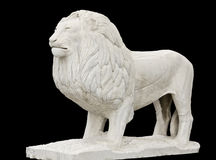 Greek classic era statue. Showing a lion Royalty Free Stock Images