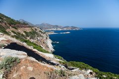 Greek coast Stock Photos