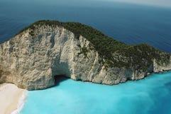 Greek coast, rock at Zante royalty free stock image