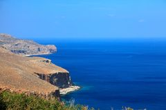 Greek coast landscape (Crete) Stock Photos