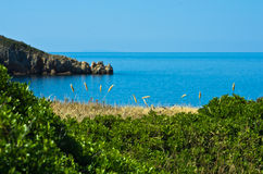 Greek coast landscape near Toroni village Stock Image