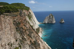 Greek coast from the mountains. Greek coast, view from the sea Stock Image