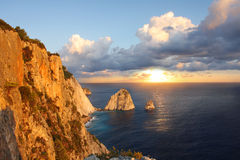 Greek coast in Zakinthos island Stock Photos