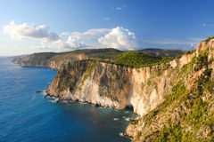 Greek coast in Zakinthos island Royalty Free Stock Photography