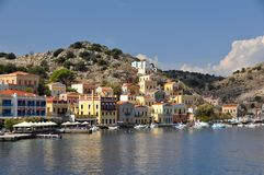 Greek coastal town Royalty Free Stock Photography