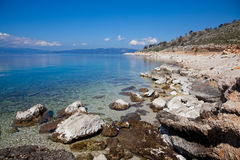 Greek Coastline. Coast of Greek near Lefkada Island in summer Stock Image
