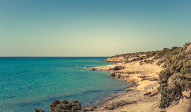 Greek coastline Royalty Free Stock Photo