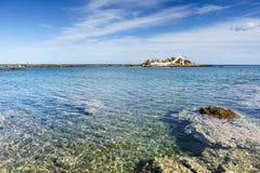Greek coastline, Agios Fokas village royalty free stock photos
