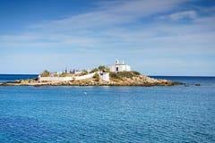 Greek coastline, Agios Fokas village royalty free stock photo