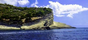 Greek coastline - Zakynthos / Zante island, Greece Stock Image