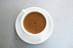 Greek Coffee. As served on a traditional kafeneio at plaka athens Stock Photos