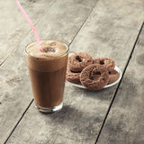 Greek coffee and biscuits Stock Photography