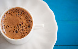 Greek coffee on a blue table Stock Image
