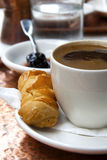 Greek coffee and cookie Royalty Free Stock Photography