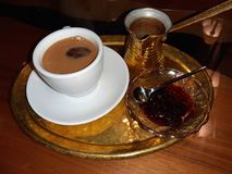 Greek coffee stock images
