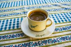 Greek coffee 1. Greek coffee at a greek taverna 1 stock photos