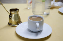 Greek coffee. In white cup Royalty Free Stock Image