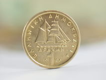 Greek Coin drachma Royalty Free Stock Photography