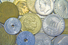 Greek Coins Stock Photography