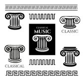 Greek colony and ornaments. Set Design logos. template Vector design elements for Classic business card vector illustration