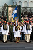 Greek Color Guard at Military parade Stock Image