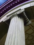 Greek column. Close-up stock photography