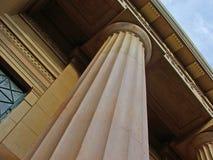 Greek column. Supportin pediment stock photos