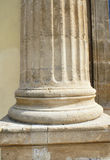 Greek column detail Royalty Free Stock Photos