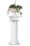 Greek column with flower on the top Stock Photo