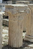 Greek Column Fragments at the Acropolis Royalty Free Stock Photo