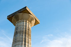 Greek column Royalty Free Stock Image