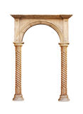 Greek column isolated on white background Royalty Free Stock Photo