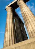 Greek column throwing up royalty free stock photography
