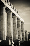 Greek columns. In black and white Stock Photos