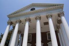 Greek Columns. Thomas Jefferson's Rotunda on the campus of the University of Virginia in Charlottesville, Virginia Stock Photo