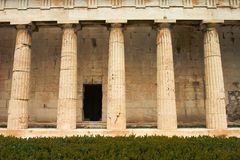 Greek Columns Stock Photo