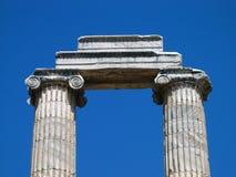 Greek columns. Ruins of a Greek temple at Didyma, Turkey Royalty Free Stock Photo