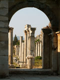 Greek columns. Ancient greek ruins in mediterranean area Stock Photography