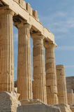 Greek columns, acropolis, athens Royalty Free Stock Photo