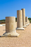 Greek columns on the Ampurias ruins Royalty Free Stock Image