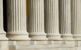 Greek columns in Athens royalty free stock photography
